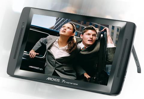Archos 70 может может воспроизводить MPEG-42 HD