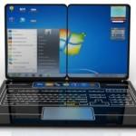 Гибридный ноутбук из клавиатуры и двух планшетов