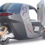 Трехколесный электромобиль для городских улиц
