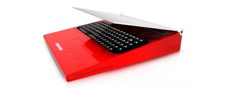Концепт ноутбука-печатной машинки