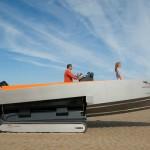 Во Франции смастерили гусеничную яхту
