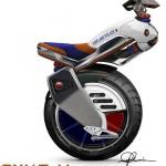 Экспериментальная серия одноколесного скутера Ryno