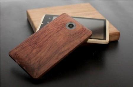 Смартфон в корпусе из бамбука