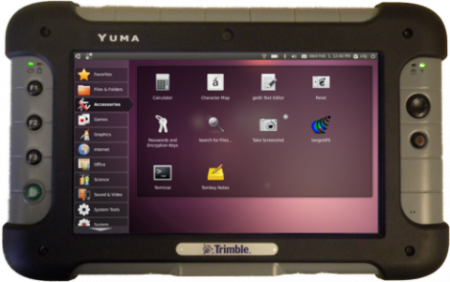 планшет Trimble Yuma на Linux