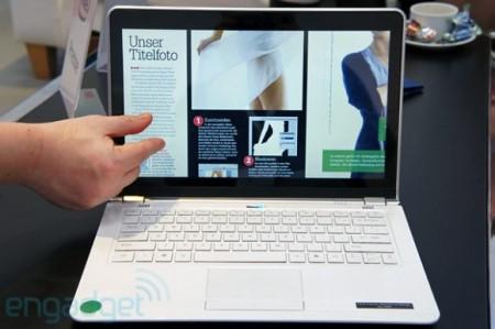 Прототип ультрабука с сенсорным экраном от Intel