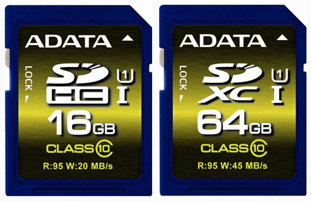 SDHC-SDXC-карты Premier Pro от ADATA