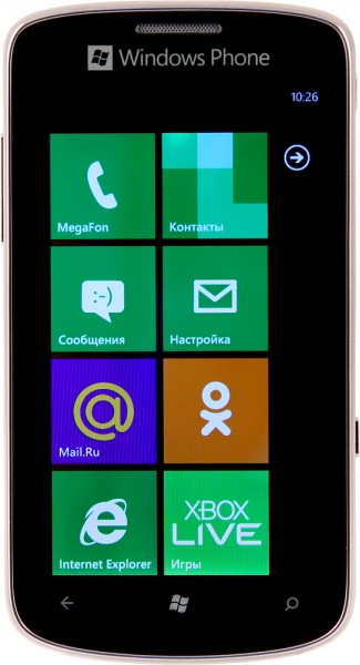 МегаФон SP-W1 на Windows Phone 7.5