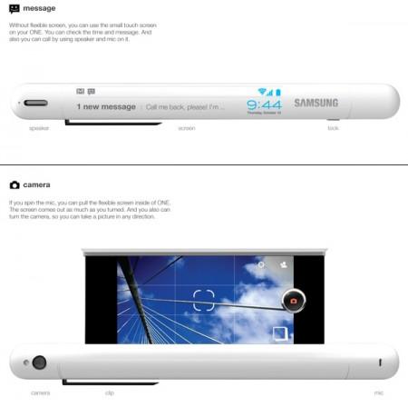 Концепт-разработка — Samsung One со сворачивающимся экраном (2)