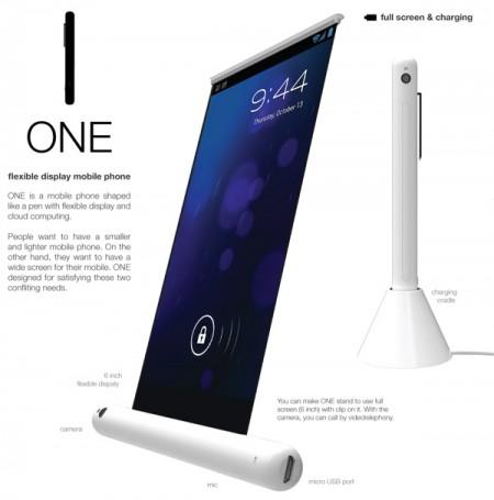 Концепт-разработка — Samsung One со сворачивающимся экраном