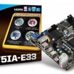 Mini-ITX материнская плата MSI B75IA-E33 на Intel B75