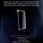 Huawei проведет мероприятие за день до MWC 2013