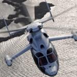 Вертолет Eurocopter X3 устанавливает новый рекорд скорости, 255 узлов в горизонтальном полете