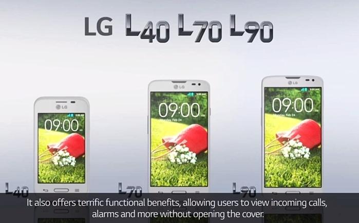LG представила смартфоны L90, L70 и L40