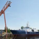 Спущен на воду новый патрульный корабль «Полярная звезда»