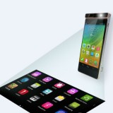 Lenovo представила концепцию смартфона с проецируемым сенсорным дисплеем