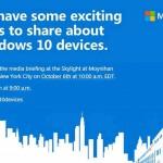 Microsoft шестого октября представит новые устройства на Windows 10