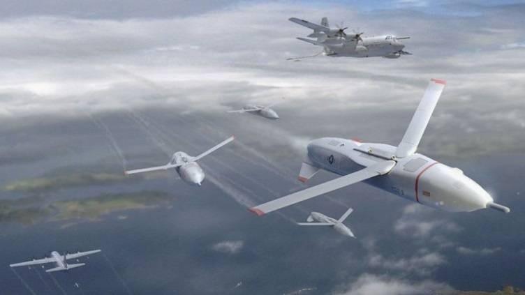 небесный авианосец с беспилотными самолетами