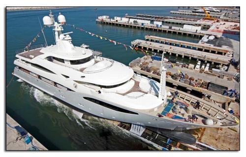 60-метровый проект Ferretti и CRN яхта CRN 130