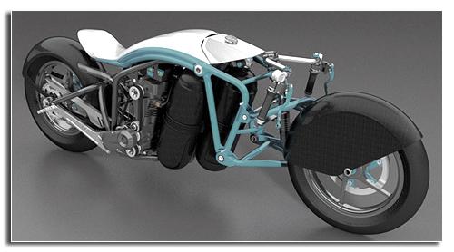 Алюминиево-магниевая рама мотоцикла Saline Airstream
