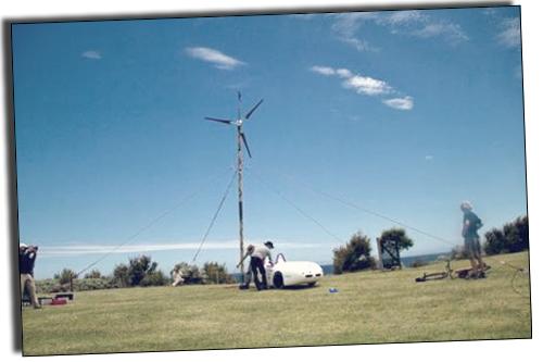 Бамбук и ветровая турбина