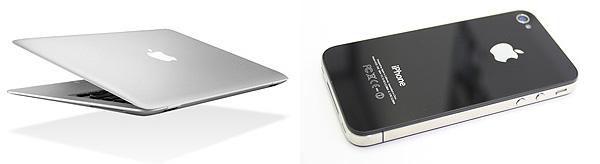 Антенна iPhone и MacBook за логотипом