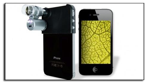 Так выглядит снаряженный микроскоп из iPhone