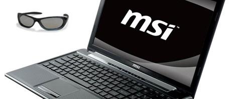 3D ноутбук от компании MSI