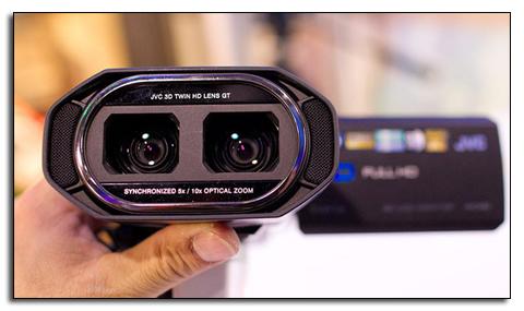 Камера JVC GS-TD1 имеет 2 объектива