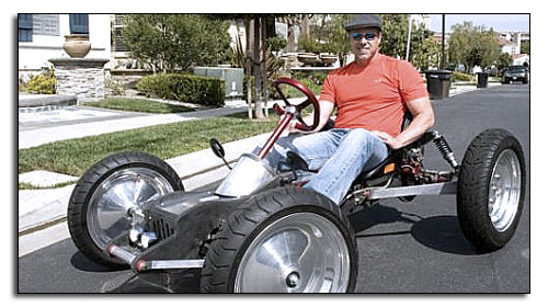 Самодельный электромобиль Z-Kart и его создатель Джордж Фортин